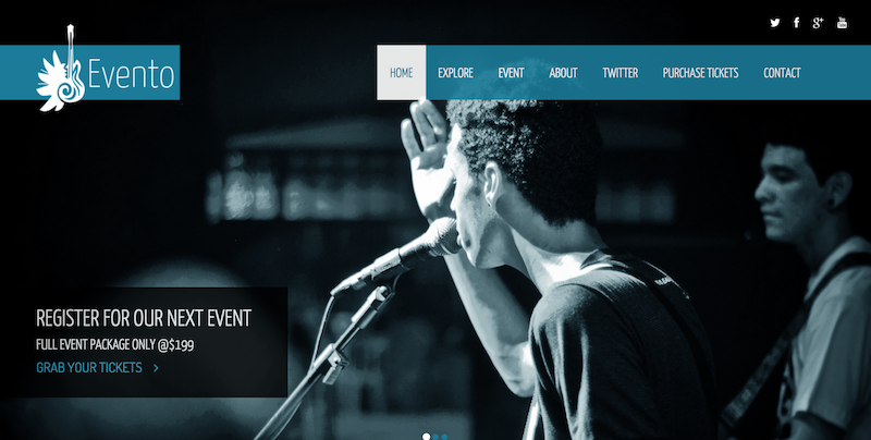Free Responsive Bootstrap Templates For AdminLTEIO - Event landing page template free
