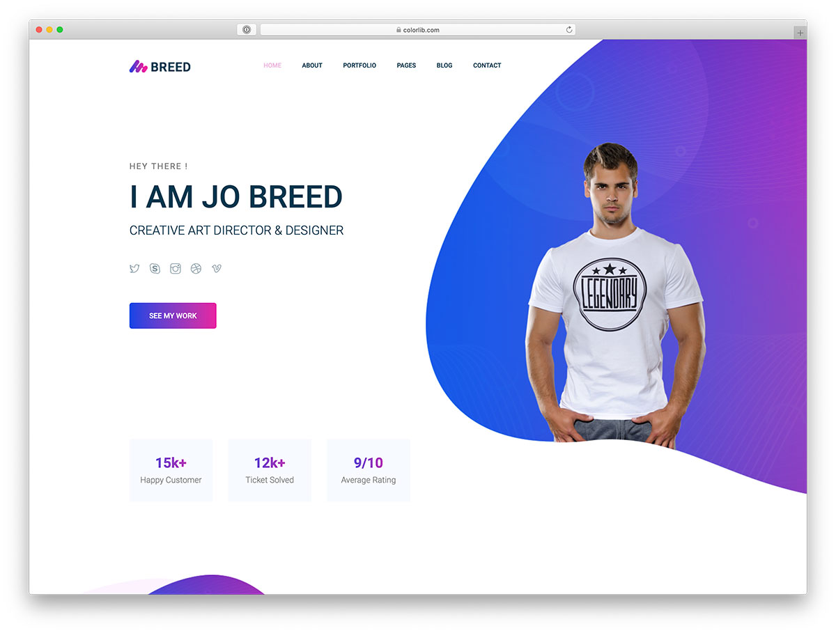 20 bootstrap portfolio website templates 2019