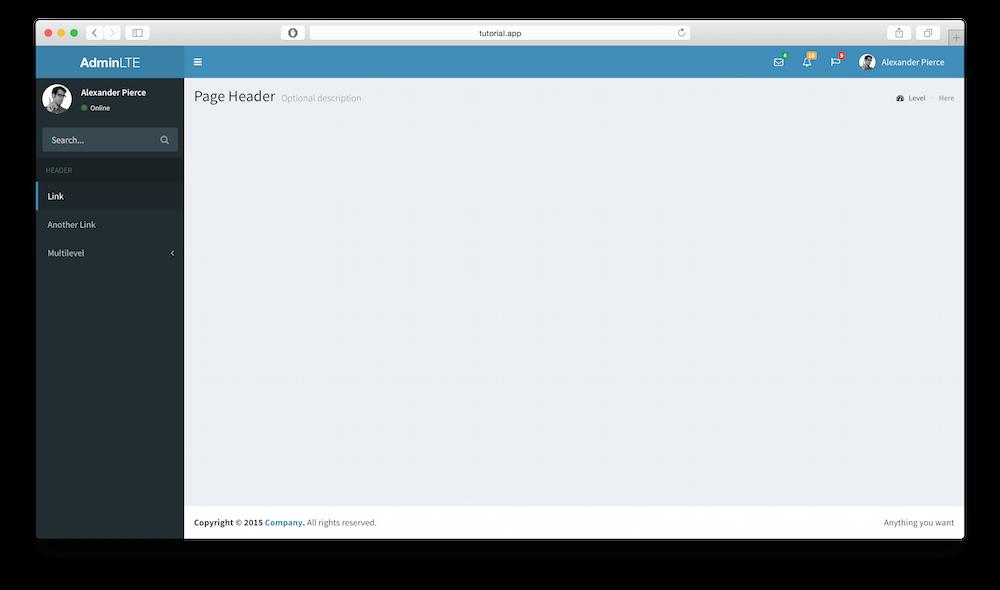 Integrate AdminLTE with Laravel 5 | AdminLTE IO